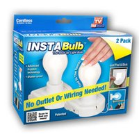 insta bulb - 2Pieces Insta Bulb Rope Creative Energy saving Wall Lamp Cabinet Llight Easy To Install Just Peel Stick