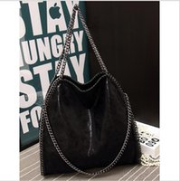 bag over shoulder - 2016 Women Falabellas Bags With Chains Ladies Shoulder Handbag Fold Over Bags With Chains Brand Original Design