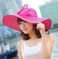 Wholesale womens sun hats new arrival dome sunhats cut outs straw hats topee women beach hats women s beanies wide brim hats topee summer caps