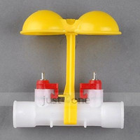 Wholesale 3 For Poultry Farm Chicken Duck Water Feeder Dual Nipples Waterer Drinkers