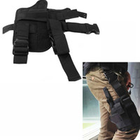 Wholesale Adjustable Outdoor Military Tactical Puttee Thigh Leg Pistol Gun Holster Pouch Wrap around Khaki Waterproof Hunting Accessory