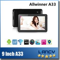 Wholesale 9 Inch A33 Quad Core Android Tablet PC Flash Light Bluetooth Wifi GB M RAM Dual Camera Multi Touch Tablets Multi Colors