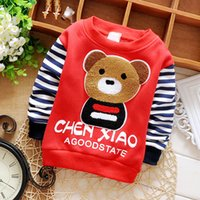 Cheap Wholesale-2015 Baby Boy Long-sleeve Tees Cotton Cute Striped Baby Boy Clothes