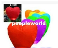 Wholesale New Arrive Heart shaped Chinese Flying Sky Lanterns wishing lamp for wedding