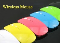 Wholesale Fashion Mice USB Optical Wireless Bluetooth Mouse G Receiver Super Slim Cordless Mouse For Computer PC Laptop Desktop