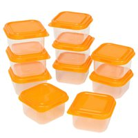 Wholesale New Arrival High end Reusable Plastic Food Sweet Storage Containers Organizer Box Set With Lids Lunch Boxes