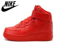women buckles - Nike Air Force Women Sports Skateboarding Shoes Cheap Factory Outlet Full Pink Genuine Leather Red Blue Green Air Force One AF1 Shoes