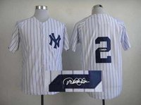 autographed baseballs - Yankees Derek Jeter White Baseball Jersey Signature Baseball Shirts Autographed Sports Team Uniforms Hot Sale Athletic Shirts for Men