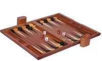 backgammon chips - 15 inch baccarat games folding portable zebra wood backgammon box with chip