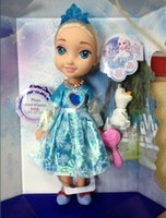 Wholesale FROZEN ELSA SNOW GLOW DOLL PRINCESS MUSICAL SINGING LET IT GO with LED light FREE DHL