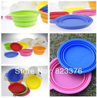 Wholesale DHL silicone pet folding bowl