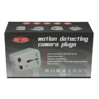 Wholesale DHL Freeshipping Motion Detecting Camera Plug Universal Adaptor Mini DV spy hidden pinhole camera Digital Video Recorder Plug
