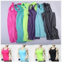 Women athletic tank - 2015 Colors S M L Womens Ribbed Racer Back Scoop Sports Athletic Workout Fitness Neck Tank Tops Yoga Fitness Tees Shirts vest BBB3234
