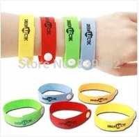 Wholesale 100pcs Natural Eco Friendly Multicolor Anti Mosquito Repellent Bracelets NO Toxic Anti mosquito Killer Ring