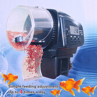Wholesale Mini Digital Automatic Tank Aquarium Decoration for Fish Feeder Aquario Curtain Aquariums Tropical Food Ornament