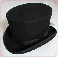 beaver top hat - cm inch Steampunk Mad Hatter Top Hat Victorian Vintage Traditional Wool Fedoras Hat Uncle Sam Beaver hat High hat