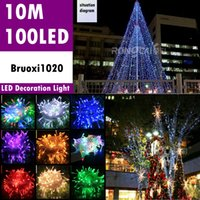 Wholesale 10M led Fancy Ball Lights Decorative Christmas Party Festival Twinkle String Lamp garland Colors For Christmas Wedding Decoration