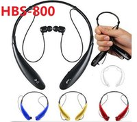 Wholesale HB S HBS Wireless Bluetooth Stereo Headset Earphone Sport Neckband Headset for iPhone Samsung S6 Note4 TONE HBS800 DHL Free Hot