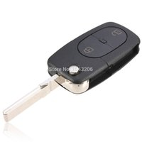 Wholesale car BUTTON FOLDING FLIP REMOTE KEY BLANK FOB CASE SHELL PAD FOR AUDI A2 A3 A4 A6 small order no tracking