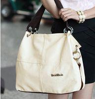 Wholesale Hot brand new korean fashion ladies handbags designer style for women bags pu leather shoulder bags splice grafting vintage messenger bags