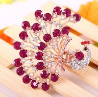 Wholesale Peacock Hairpin Korean Version New Jewelry Of The Alloy Diamond Hairpin Bride Hair Accessories Peacock Diamond Hairpin
