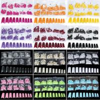 acrylic nail brands - Hot Sales Fashion Brand new color choice in a bag Acrylic French Half False Nail Art Tips tx1