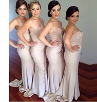 Cheap Vintage Bridesmaid Dresses Long Floor Blush Sweetheart Corset Pearls Beaded Mermaid Plus Size Bridesmaids Wedding Party Formal Gowns 2016