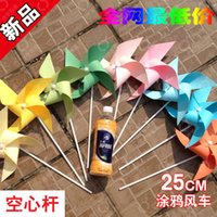 Wholesale paper windmill windmill doodle for wedding decoration for kids toys