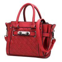 crochet bag - New Autumn and winter women hand bag Fashion crochet shoulder bag Bead lock decoration women handbag Z M0271