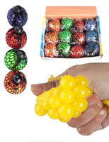 big grapes - PrettyBaby Cute Anti Stress Face Reliever Grape Ball Autism Mood Squeeze Relief Healthy Toy Funny Geek Gadget Vent Toy