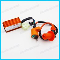 Cheap 6 Pin Racing CDI Box & Ignition Coil For GY6 50cc 70cc 90cc 110cc 150cc ATV Quad Go Kart Moped Scooter Motorcycle order<$18no track