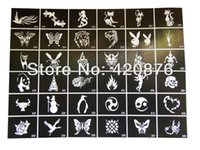 Wholesale Mixed designs Tattoo Stencils for Body art Painting Airbrush Tattoo