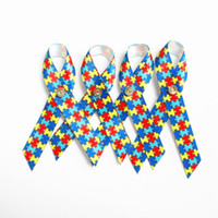 autism puzzle ribbon - 500pcs Autism Awareness Lapel Pins with Butteryfly Puzzle Ribbon Clutch pin