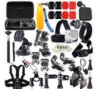 Wholesale GoPro hero4 accessories set camera Large Bag plane M glue wrist strap self bar movable base with xiaomi yi suit accessories