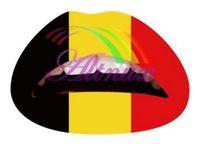 belgium art - Hot Flag Mix color Lip Sticker Transfer Disposable Lips Tattoo Lip stick Art Makeup for Party cosplay Belgium