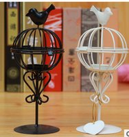 Wholesale Christmas Candle Holders The classic European style creative cages Iron Candle Lantern Christmas gift birthday gift lovers