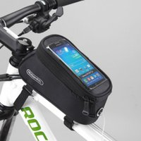 Wholesale Sports Cycling Fron Tube Bag Phone BagsMount Storage Phone Bag With Touchable Screen Protector