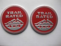 Wholesale 2pcs Red Trail Rated x4 Emblem Decal Badge Sticker For Jeep Wrangler Grand