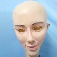 halloween wholesaler - Cross Dressing Party Masks Rubber Latex Halloween Female Mask Wholesaler