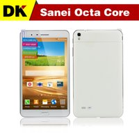 Wholesale 7 inch Sanei Octa core G Phone Tablet PC MTK6592 GHz FHD Capacitive IPS Touch GB GB Android GPS Bluetooth MP Phablet