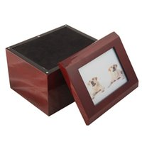 pet urns - pet wooden urn for cremation ashes
