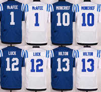 wholesale football jersey - 2015 Cheap football jerseys Pat McAfee Donte Moncrief Andrew Luck T Y Hilton Elite Football jerseys Embroidery Logo Mix Order