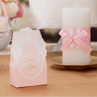 Wholesale Pink Color Wedding Candy Box Creative Wedding Event Favor Holder Anniversary Party Sweet Favors Paper Gift Box Wedding Decor