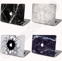 Wholesale 100PCS HHA528 Cartoon Style Laptop Hard Cases Marble Style for Apple Macbook Air Pro Retina Protector Macbook Case Front Cover