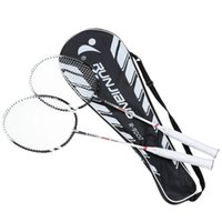 Wholesale 2Pcs Pair Training Badminton Racket Racquet with Carry Bag Durable Lightweight Badminton Set Sport Equipment Colors