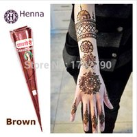 henna tattoo - Brand New Real original import india henna Brown color natural plant henna tattoo ink Temporary Tattoo Paste Cone Body Art tattoo tool