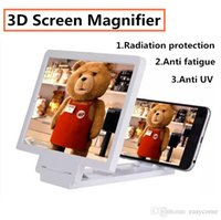 Wholesale Mobile phones Bracket D Magnifying Enlarged Screen Glass Moive holder Folding Magnifier for iphone Samsung Galaxy smartphones