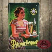 aluminum ornaments - Pilsner Urquell Beer painting Tin signs poster Alpha Zulu tin wall plaque Christmas ornament