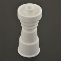Wholesale 10mm mm mm female Ceramic nail Domeless Ceramic nails vs GR2 Titanium Nail Quartz nail for glass smoking accessories