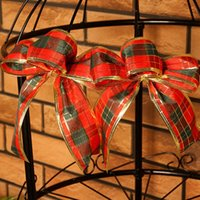 beautifully decorated christmas trees - Beautifully decorated Christmas tree bow fashion Scottish plaid bow full shipping